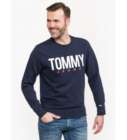 """Tommy Jeans """"Essential Logo Crew"""" Navy"""