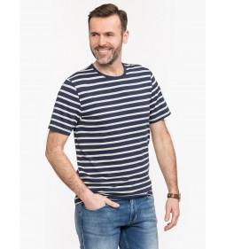 "Mustang ""Striped T-Shirt"" Navy"