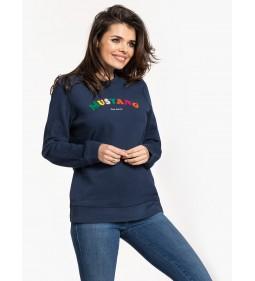 """Mustang """"Fancy Sweatshirt"""" Navy"""