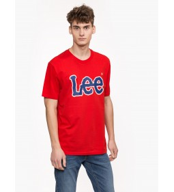 "Lee ""Logo Tee"" Bright Red"