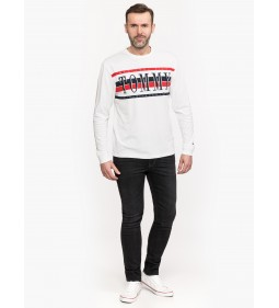 "Tommy Jeans Retro Long Sleeve Tee"" White"