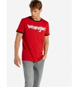 "Wrangler ""Kabel Tee"" Scarlet Red"