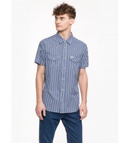 "Wrangler ""Western Shirt"" Peacoat Blue"
