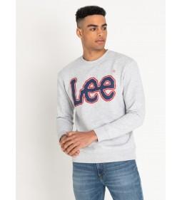 "Lee ""Logo Sws Sharp"" Grey Mele Plus"