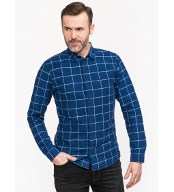 "Tommy Jeans ""Window Pane Shirt"" Blue"