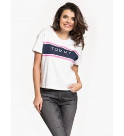 "Tommy Jeans ""Stripe Logo Tee"" White"