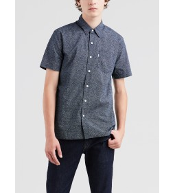 "Levi's ""SS Sunset 1 Pkt Shirt"" Microstars Dress Blues"