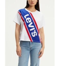 """Levi's """"Graphic Varsity Tee"""" Bold Sloped Logo White"""