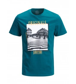 "Jack & Jones ""Jorart Manda Tee"" Deep Teal"