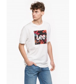 "Lee ""Botanical Tee"" White Plus"