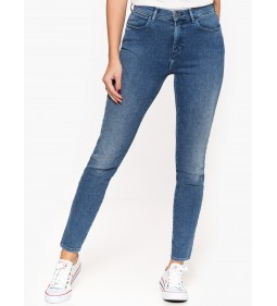 "Wrangler ""High Rise Skinny"" Blue Pepper"