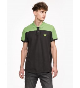 "Wrangler ""Contrast Polo"" Faded Black"