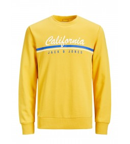 "Jack & Jones ""Jorretro Cali Sweat""  Yolk Yellow"
