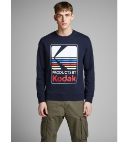 "Jack & Jones ""Jorsnap Sweat"" Total Eclipse Procent"