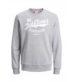 "Jack & Jones""Jorsummertime Sweat"" Light Grey Melange"