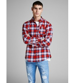 "Jack & Jones ""Jornico Shirt"" Fiery Red"