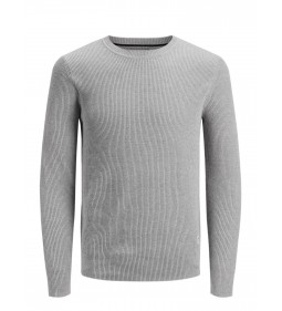 "Jack & Jones ""Jorpooppi Knit Crew"" Light Grey Melange"