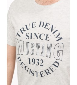 "Mustang ""Basic Print T-Shirt"" Grey"