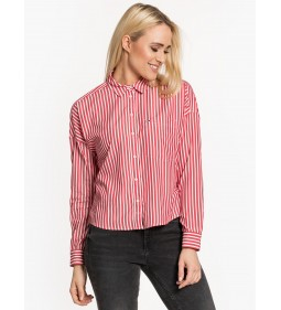 "Tommy Jeans ""Fluid Cropped Boxy Shirt"" Red"