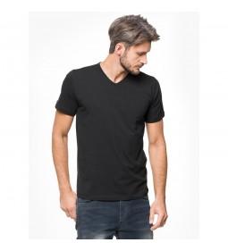 """Silesia Jeans """"Basic M02R VNECK"""" Black"""