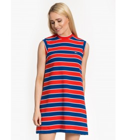 "Tommy Jeans ""A-Line Stripe Dress"" Blue"