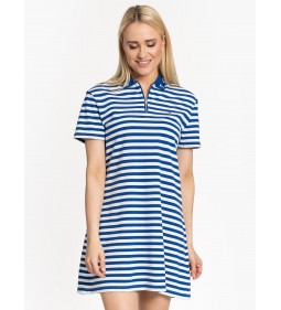 "Tommy Jeans ""Essential Stripe Polo Dress"" Blue"