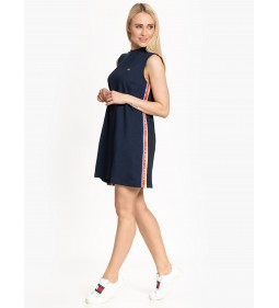 "Tommy Jeans ""A-Line Solid Tape Dress"" Blue"