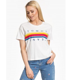 "Tommy Jeans ""Multicolor Line Logo"" White"