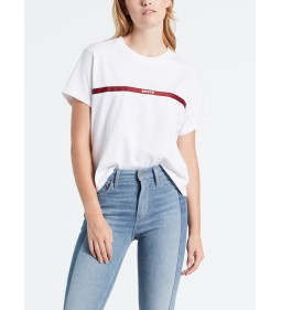 "Levi's ""Graphic Varsity Tee"" Levi's Text Tape White"