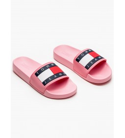 "Tommy Jeans ""Flag Pool Slide"" Geranium Pink"