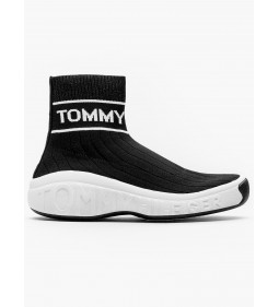 """Tommy Jeans """"Wmn Knit Sneaker"""" Black"""