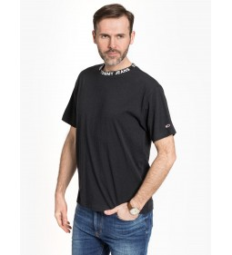 "Tommy Jeans ""Heather Branded Collar Tee"" Black"