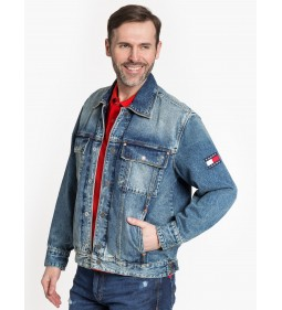 "Tommy Jeans ""Oversize Denim Trucker"" Denim"