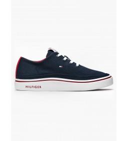 """Tommy Hilfiger """"Lightweight Textile Sneaker"""" Midnight"""