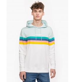 "Wrangler ""Rainbow Hoodie"" White"