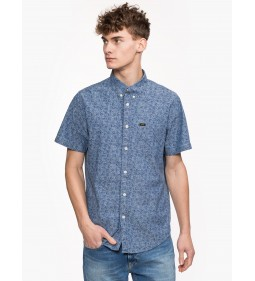 "Lee ""Button Down"" Dipped Blue"