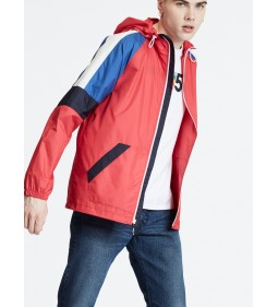 "Levi's ""Colorblock Windrunner"" Chinese Red"