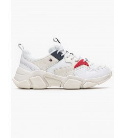 "Tommy Hilfiger ""Wmn Chunky Mixed Textile"" White"