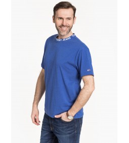 """Tommy Jeans """"Heather Branded Collar Tee"""" Blue"""