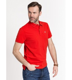 "Tommy Jeans ""Embossed Collar Polo"" Red"