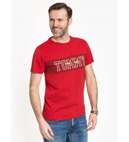 """Tommy Jeans """"Panel Tee"""" Red"""