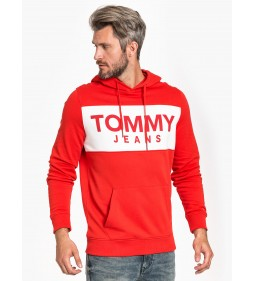"Tommy Jeans ""Bold Logo Hoodie"" Red"