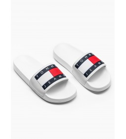 "Tommy Jeans ""Flag Pool Slide"" White"