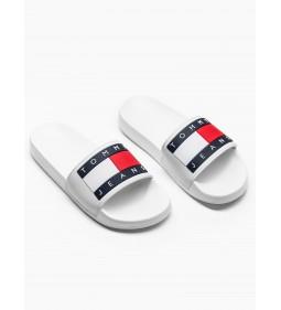 """Tommy Jeans """"Flag Pool Slide"""" White"""