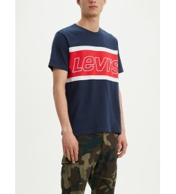 "Levi's ""Color Block Tee"" Dress Blues/ White"