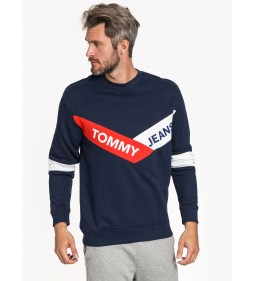 "Tommy Jeans ""Chevron Crew"" Blue"