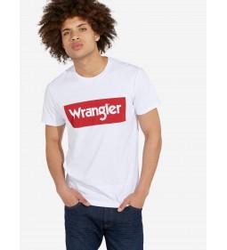 "Wrangler ""Logo Tee"" White"