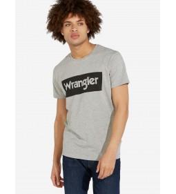 "Wrangler ""Logo Tee"" Mid Grey Mel"