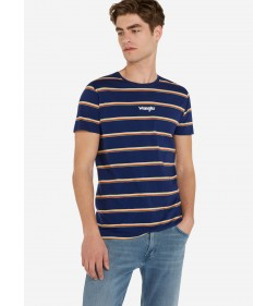"Wrangler ""Stripe Tee"" Blue Depths"