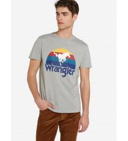 "Wrangler ""Wrangler Tee"" Mid Grey Mel"